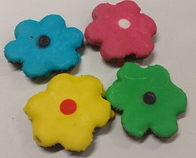 Gourmet Horse Treats - Fancy Flowers Rings - 3 Pce - Molasses Oat - Icing