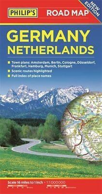 Philip's Germany and Netherlands Road Map New Paperback Book