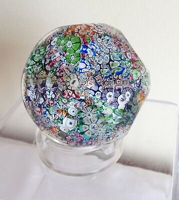 Vintage Scottish Perthshire P1978 Cane Millefiori End of Day Glass Paperweight