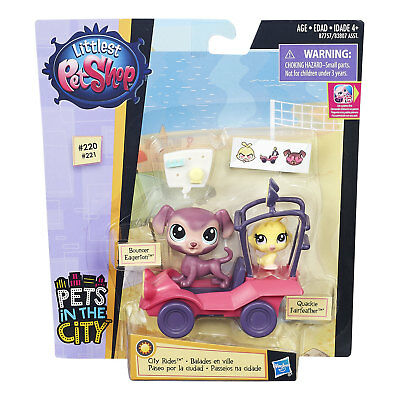 Littlest Pet Shop City Rides Dune Buggy + Bouncer Eagerton & Quackie Fairfeather