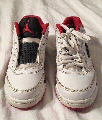 49f12bad5af5 BOYS MENS NIKE Air Jordan 5 Retro Low Fire Red Trainers Uk Size 6 ...