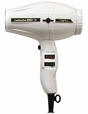 New Turbo Power Twinturbo 3900 Light Ceramic Ionic dryer with 2 nozzles in White