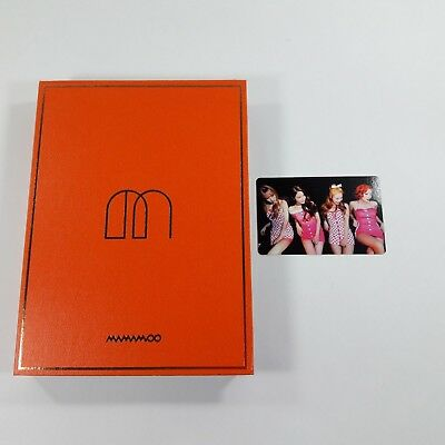MAMAMOO 1st album Melting Opened CD Booklet Group photocard 1p K-POP Idol group