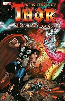 THOR BLOOD AND THUNDER TP TPB $34.99 srp Silver Surfer Warlock Thanos Drax NEW