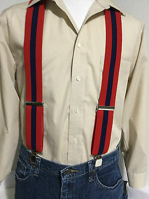 "Jazz on Black New Suspenders // Braces Made in the USA XL 2/"" Adj Men/'s"