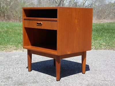 Vintage Mid Century Danish Modern Teak Nightstand End Table Falster Denmark