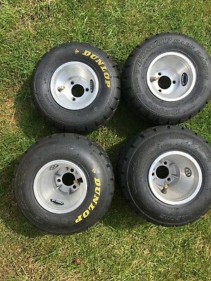 Donlop Wets Kart Tyres On Rims