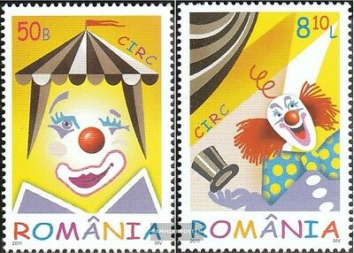 Romania 6533-6534 (complete.issue.) unmounted mint / never hinged 2011 Circus