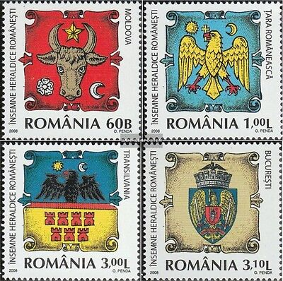 Romania 6326-6329 (complete.issue.) unmounted mint / never hinged 2008 Crest