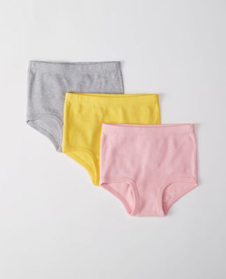 New Hanna Andersson Girls Classic Unders Organic Underwear XS 18m 3  Solids Pink
