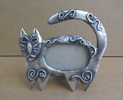 Ashleigh Manor Tribal Cat Small Pewter Picture Frame