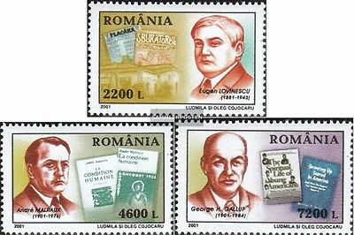 Romania 5560-5562 (complete.issue.) unmounted mint / never hinged 2001 Anniversa