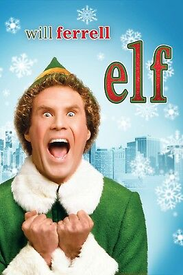 """Elf""..Will Ferrell & James Caan ... Classic Comedy Movie Poster ..Various Sizes"