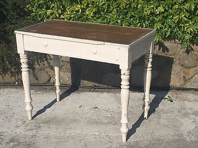 antique vintage painted small pine farmhouse table shabby chic