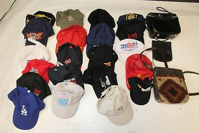 Hat Collection HUGE Lot Ball Caps Resale Wholesale plus three bags z-+