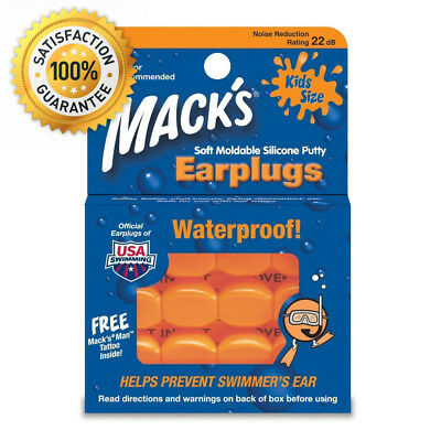 Macks Pillow Soft Moldable Silicone Earplugs Kids Size 18 Pairs 3 Packs Of 6