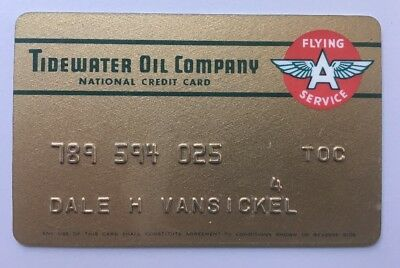 Vintage Tidewater Oil Company Flying A National Credit Card