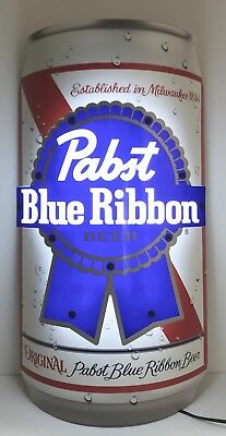 "Pabst Blue Ribbon PBR Dimensional Can  LED Beer Sign 18x9.5"" - Brand New In Box!"