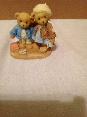 """Cherished Teddies: """"Try Try And Try Again"""" Clement & Jodie  #706744 Dated 2000"""