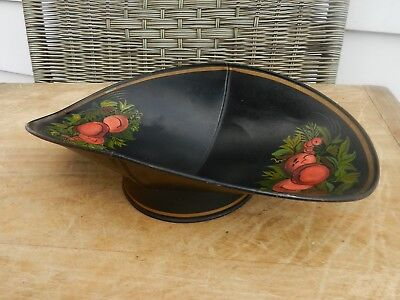 Vintage TIN PAINTED TOLEWARE COUNTRY STORE Beam Scale Scoop Pan Produce Tray