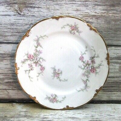 Vintage 1940's Taylor Smith and Taylor Pink Floral Dessert Pie Plate