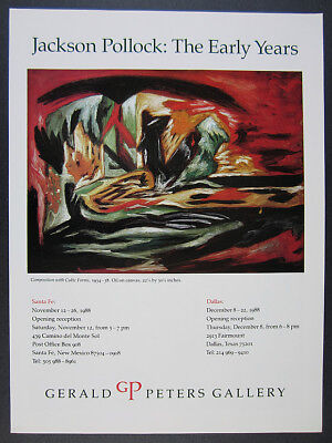 1988 Jackson Pollock Composition with Cubic Forms painting vintage print Ad