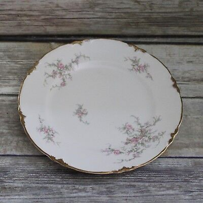 Vintage 1940's Taylor Smith and Taylor Pink Floral Dinner Plate