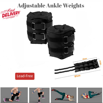 Powertrain Adjustable Ankle Weights Wrist Yoga Fitness Training 2x 5Kg Strap On