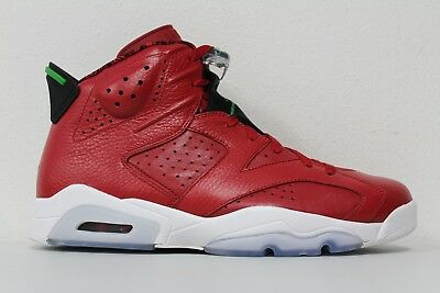 777d48f9af31c9 Men s Nike Air Jordan 6 VI Retro Spizike Varsity Red Green 694091 625 Size  11