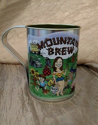 Mountain Brew Large Tin Cup hillbilly moonshine Berk corn whiskey