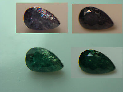 rare natural Alexandrite gem COLOR CHANGE Green Purple Madagascar untreated Pear