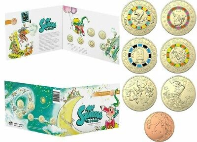 2019 7x Coin Coloured Uncirculated 60th Anniversary of Mr Squiggle and Friends