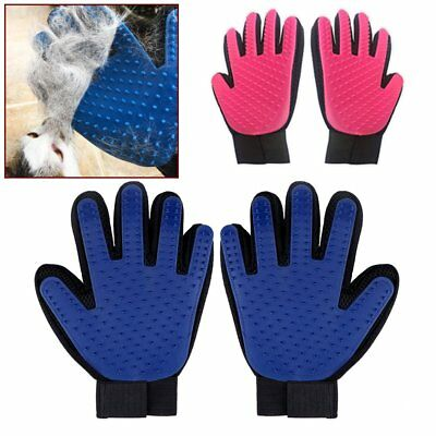 Cleaning Brush Magic Glove Pet Dog Cat Massage Hair Removal Grooming Groomer ES