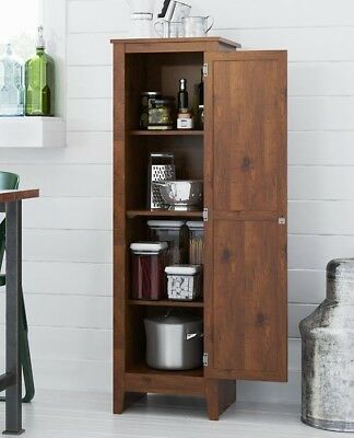 Food Pantry Cabinet Jelly Cupboard Mission Country Styling Kitchen Laundry Bath