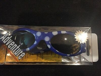 Baby Banz Adventure Banz Infant sunglasses - Blue Dot for ages 2 Months - 2 Yrs