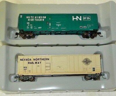 """2 Athearn N Scale """"Northern"""" Roadname 50' Boxcars"""
