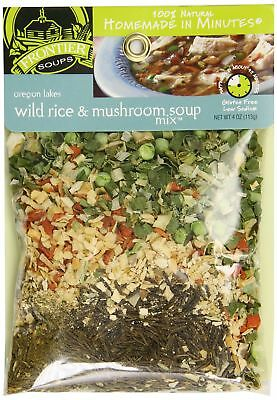 Frontier Soups Homemade Minutes Soup Mix Oregon Lakes Wild Rice and Mushroom 4Oz
