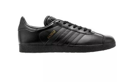 Adidas Gazelle Core Black Mens Leather Low-top Sneakers Trainers Male 38.5 (a8)