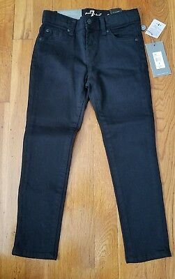 7 for All Mankind Girls Black Skinny Legging Jeans Sz 6 7FFXG2173 $69 NEW