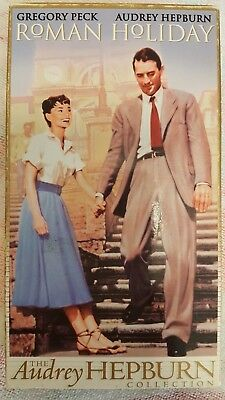 Roman Holiday, Gregory Peck, Audrey Hepburn Classic VHS Movie