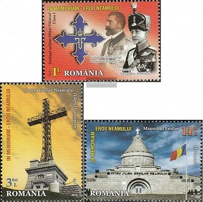 Romania 6840-6842 (complete.issue.) unmounted mint / never hinged 2014 Heldenged