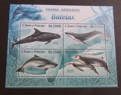 St Thomas & Prince Island 2013 MS Whale Whales sea  MS MNH UM unmounted mint