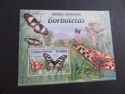 St Thomas & Prince Island 2013 MS Moths Butterflies  MS MNH UM unmounted mint