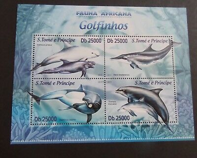 St Thomas & Prince Island 2013 MS dolphins  MS MNH UM unmounted mint