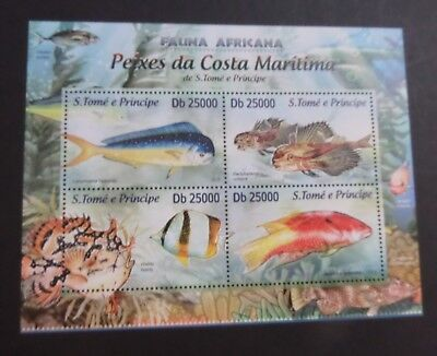 St Thomas & Prince Island 2013 MS Fishes Fish MS MNH UM unmounted mint