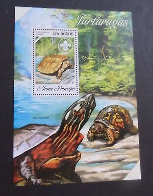 St Thomas & Prince Island 2013 MS Turtle  MNH UM unmounted mint never hinged