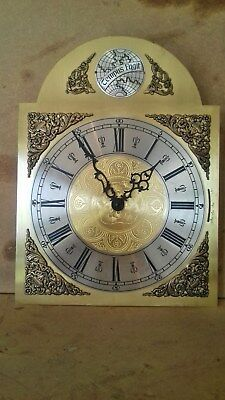 Etched Brass Grandfather Clock Face