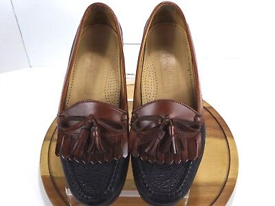 f3eb452c6aa Men s Cole Haan Country Kilt Tassel Loafers Shoes Black   Brown Leather US  8 D