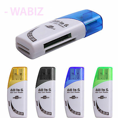 All in 1 USB 2.0 Micro SD MMC TF SDHC M2 MS Memory Card Reader Adapter Converter
