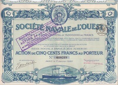 Four certificates for French companies with nautical vignettes
